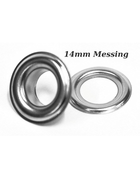 Ösen Messing vernickelt 14mm silber VE100